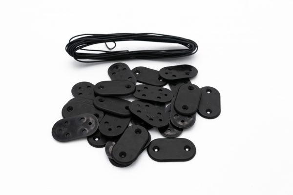 kit de fixation noir