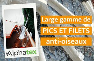 Filets et pics anti-oiseaux d'Alphatex