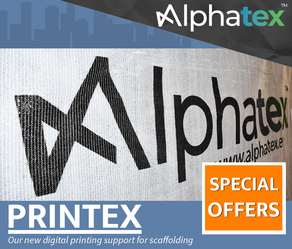 Printex, the digital printing support for scaffolding net by Alphatex