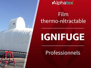 Film thermo-rétractable ignifugé