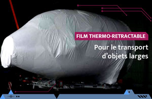 Thermo bâchage pour le stockage et le transport d'objets larges