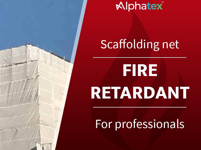 Fire retardant scaffolding net