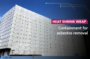 Heat shrink wrap used for asbestos removal